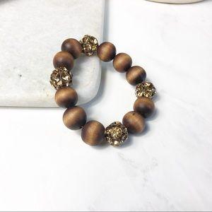 J. Crew Jewelry - J. Crew Wooden Bead Stretch Bracelet